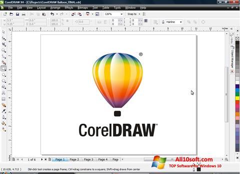 Posnetek zaslona CorelDRAW Windows 10