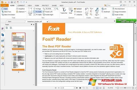 Posnetek zaslona Foxit Reader Windows 10