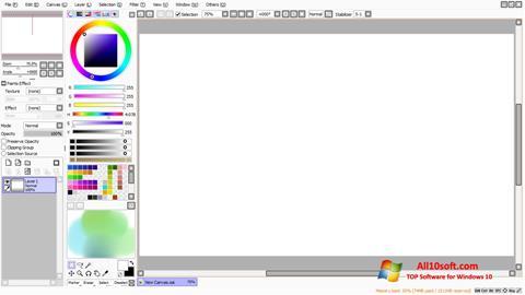 Posnetek zaslona Paint Tool SAI Windows 10