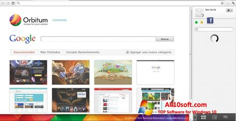 Posnetek zaslona Orbitum Windows 10