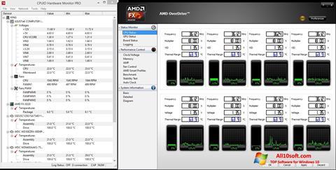 Posnetek zaslona AMD Overdrive Windows 10