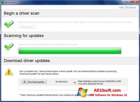 Posnetek zaslona Device Doctor Windows 10
