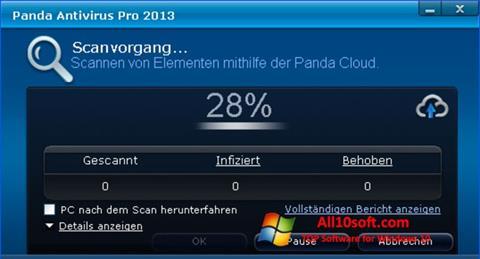 Posnetek zaslona Panda Antivirus Pro Windows 10