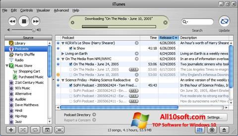 Posnetek zaslona iTunes Windows 10