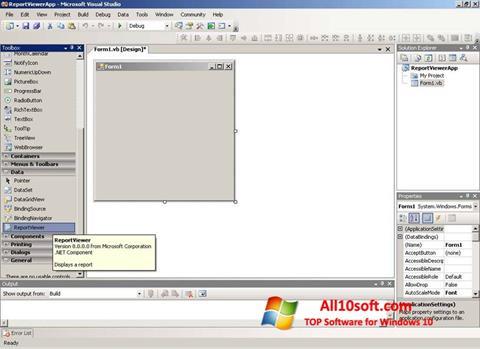 Posnetek zaslona Microsoft Visual Studio Express Windows 10