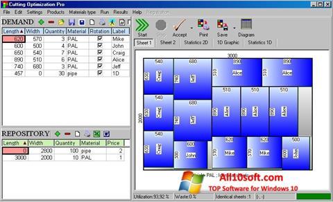 Posnetek zaslona Cutting Windows 10