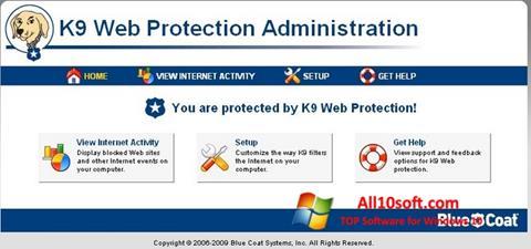 Posnetek zaslona K9 Web Protection Windows 10