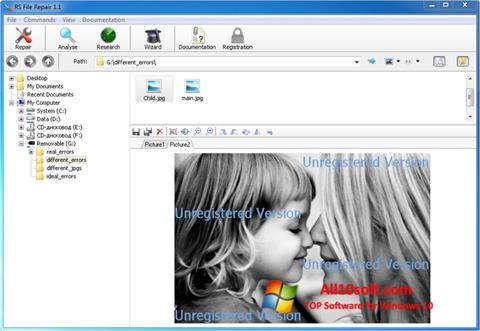 Posnetek zaslona File Repair Windows 10