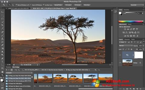 Posnetek zaslona Adobe Photoshop Windows 10
