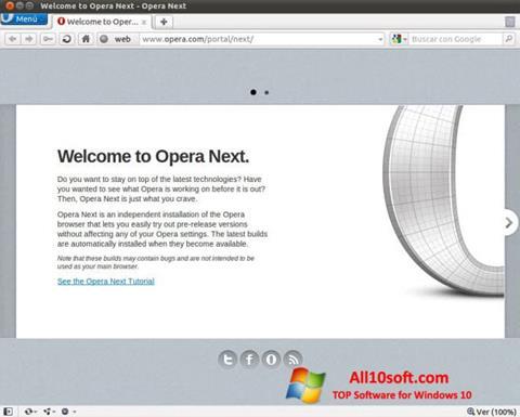 Posnetek zaslona Opera Developer Windows 10