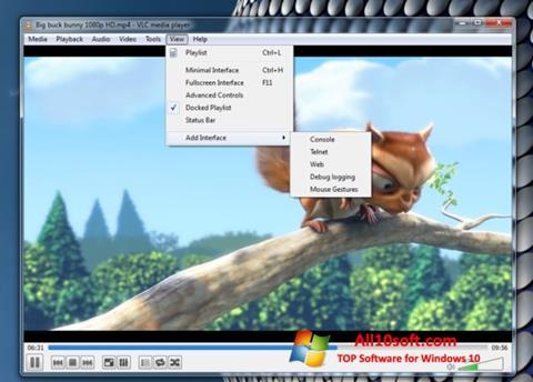 Posnetek zaslona VLC Media Player Windows 10