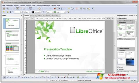 Posnetek zaslona LibreOffice Windows 10