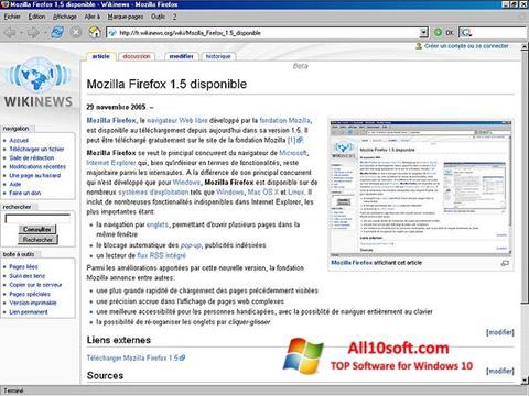 Posnetek zaslona Mozilla Firefox Windows 10