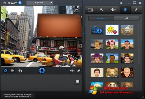 Posnetek zaslona CyberLink YouCam Windows 10