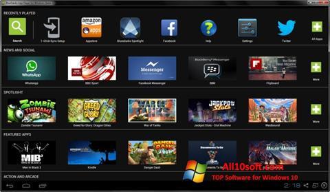 Posnetek zaslona BlueStacks Windows 10