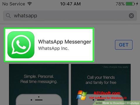 Posnetek zaslona WhatsApp Windows 10