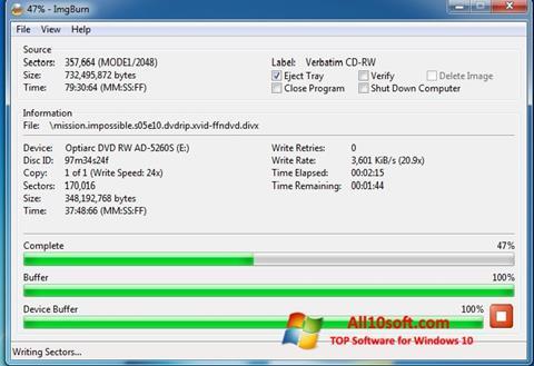 Posnetek zaslona ImgBurn Windows 10