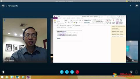 Posnetek zaslona Skype for Business Windows 10