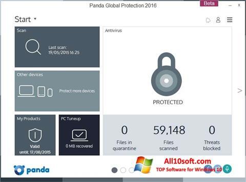 Posnetek zaslona Panda Global Protection Windows 10