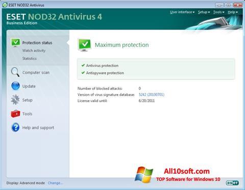 Posnetek zaslona ESET NOD32 Windows 10