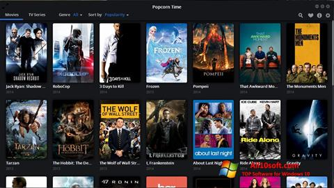 Posnetek zaslona Popcorn Time Windows 10