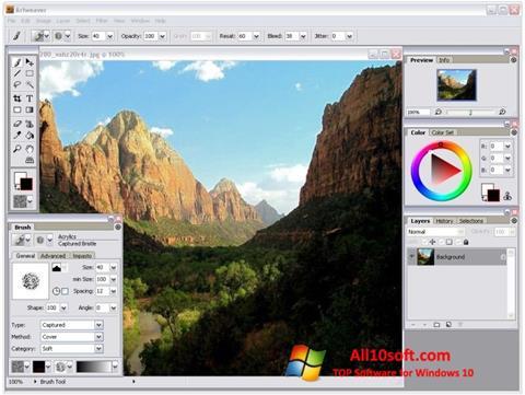 Posnetek zaslona Artweaver Windows 10