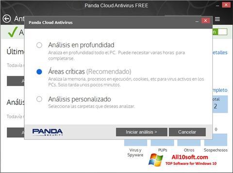 Posnetek zaslona Panda Cloud Windows 10
