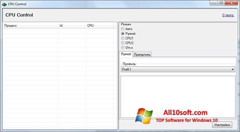 Posnetek zaslona CPU-Control Windows 10