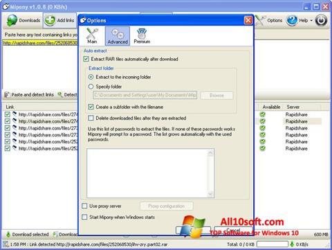 Posnetek zaslona Mipony Windows 10
