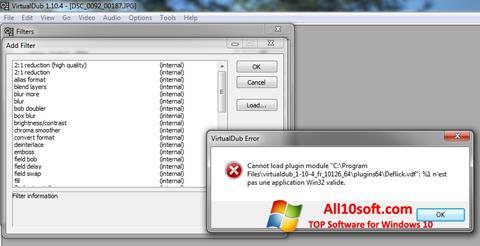 Posnetek zaslona VirtualDub Windows 10